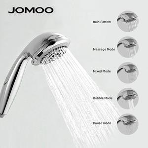 Image 2 - JOMOO 5 spreyleri banyo duşu kafa yüksek basınçlı duş başlıkları 3.5 inç meme douchette duş paslanmaz çelik hortum ile