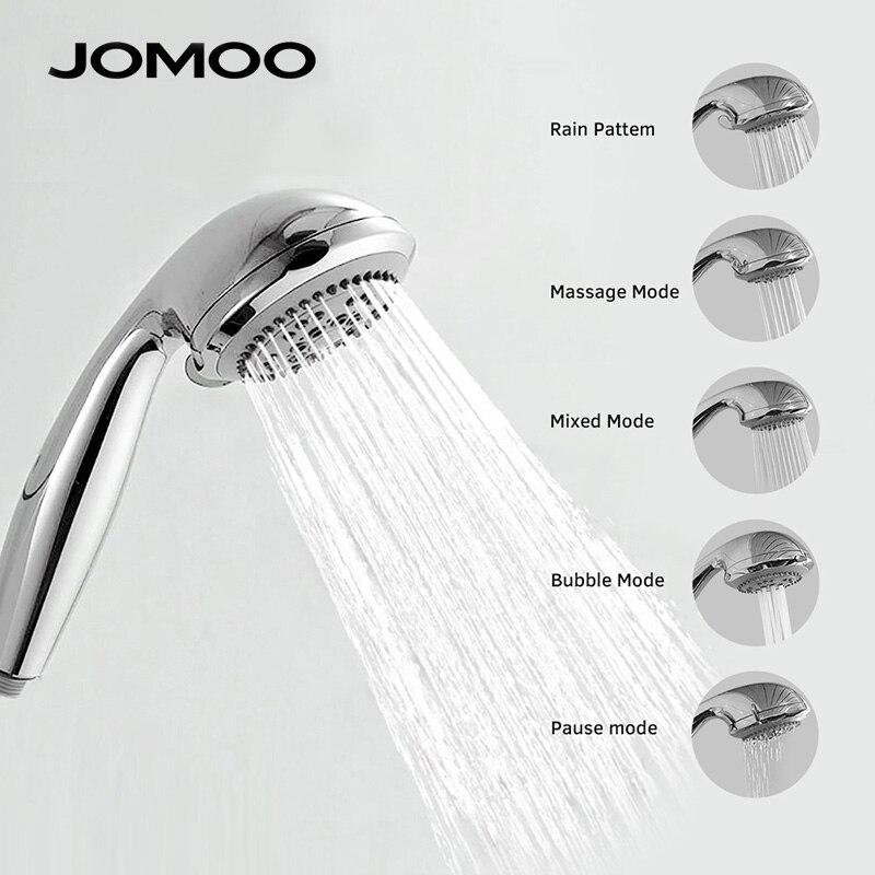 JOMOO cabeza de ducha ABS cromo baño ducha de ahorro de agua de alta presión de la forma redonda de ducha de mano 5 aviones de 3,5 pulgadas boquilla