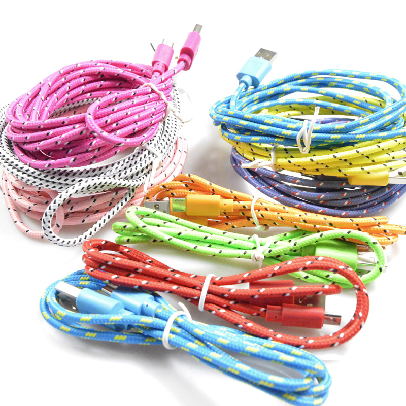 2m braided micro usb cable