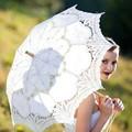 Abertura Manual Acessórios de Casamento Nupcial Umbrella Parasol Umbrella Para Nupcial Do Casamento Do Laço Guarda-chuva Chuveiro Em Estoque