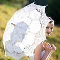 Manual Opening Wedding Umbrella Bridal Parasol Umbrella Accessories For Wedding Bridal Lace Shower Umbrella In Stock