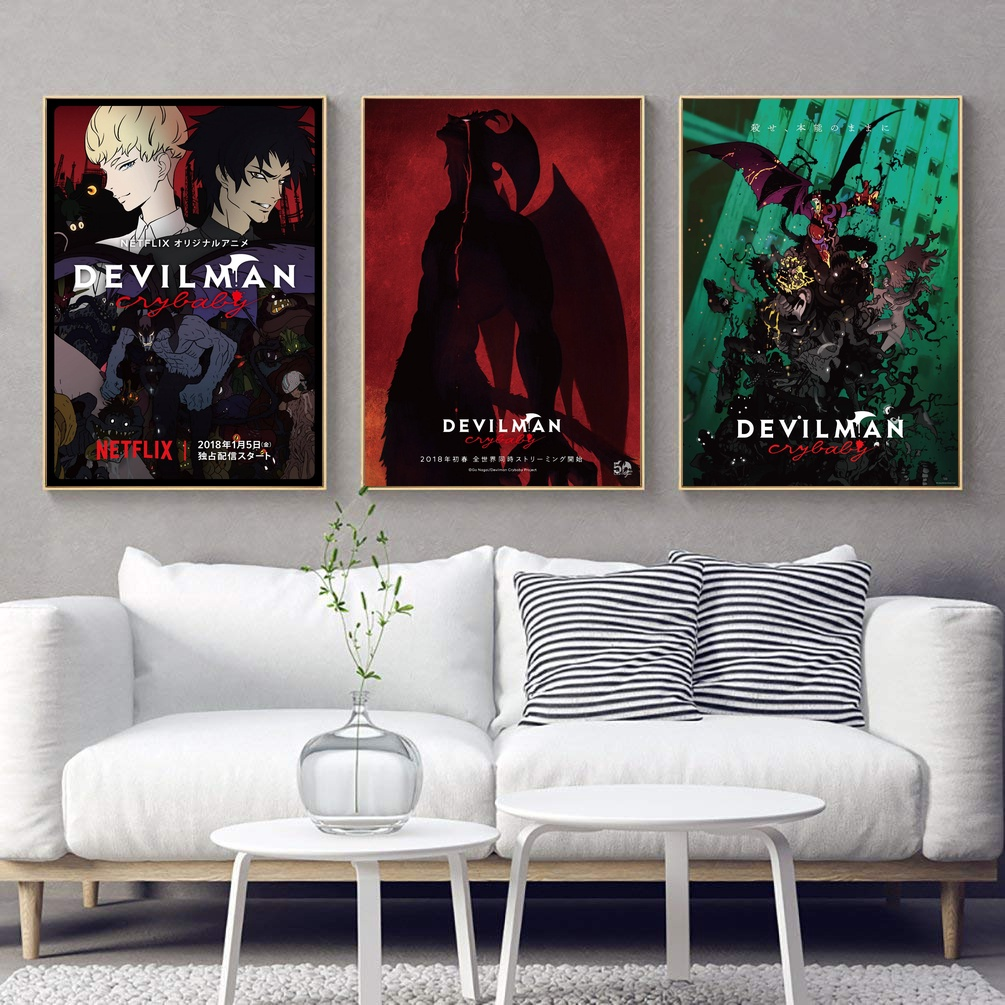 Devilman Crybaby Netflix Japanese Anime TV Show Silk Poster Art Print Home Wall Decor image