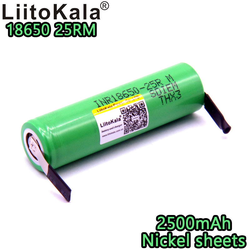 Liitokala <font><b>18650</b></font> 3.6V 100% original <font><b>2500mAh</b></font> rechargeable lithium battery INR18650 25R M discharge 20A dedicated power supply image