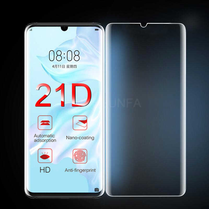 21D Protective Glass On The For Huawei P30 P20 Pro P10 Plus Tempered Screen Protector For Huawei P30 P20 Lite Curved Glass Film