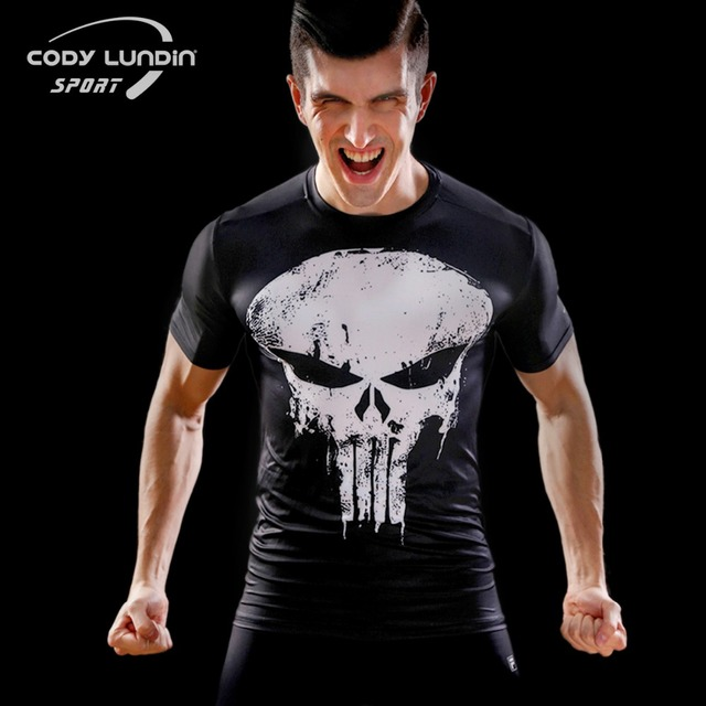 2017 High Quality Fitness Mens Cody Lundin Brand Compression T Shirts short  sleeve Base Layer Bodybuilding Tights Tops Male 23833483d532