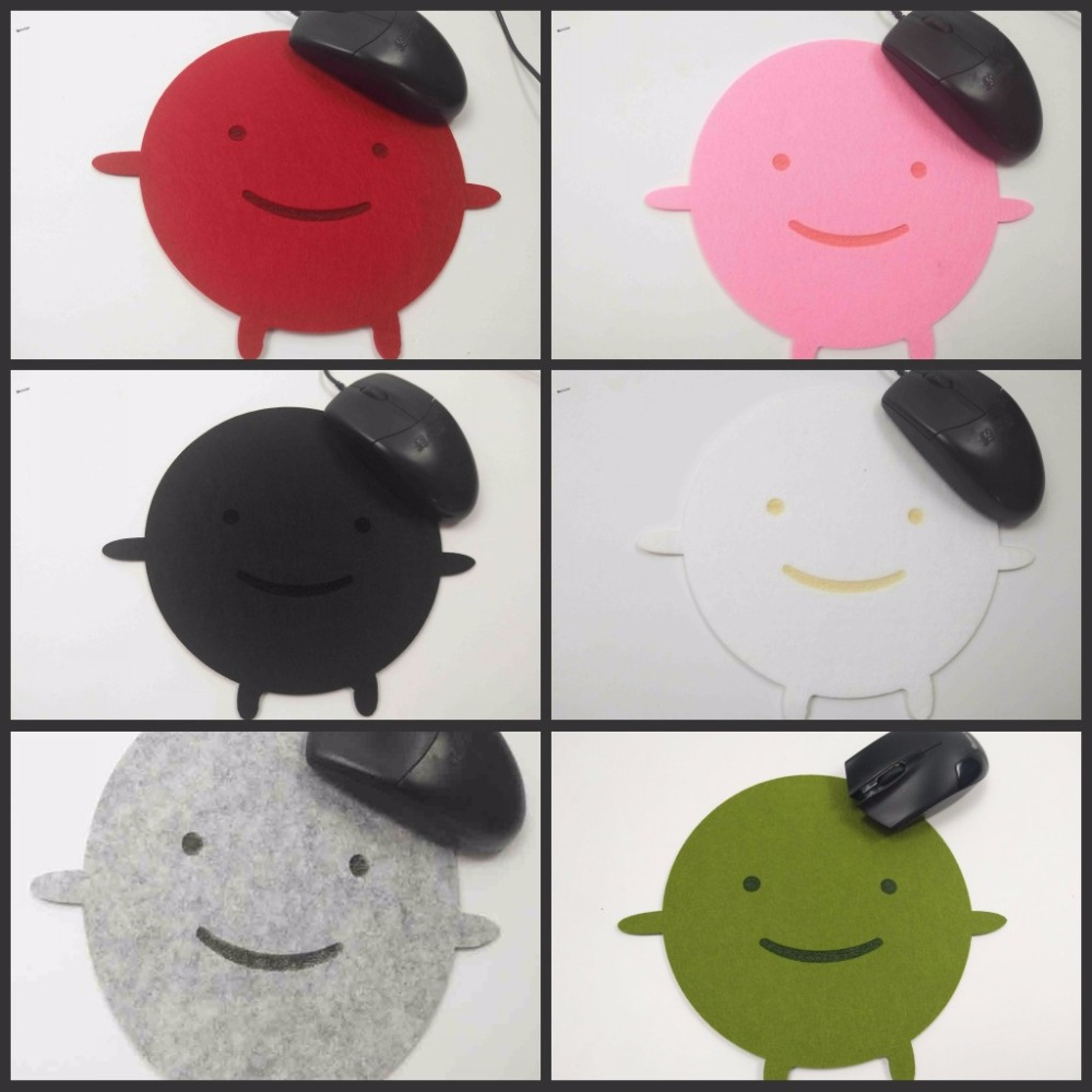 Yuzuoan милые куклы Самые низкие цены мультфильм Мягкие Фетр Мышь Pad для ноутбуков Тетрадь компьютер Мышь Pad таблице Коврики украсить ваш стол