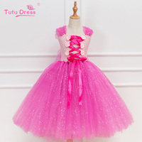 Baby Girls Christmas Halloween Costume Cosplay Tutu Dress Kids Princess Tulle Dress Girl Festival Birthday Dress