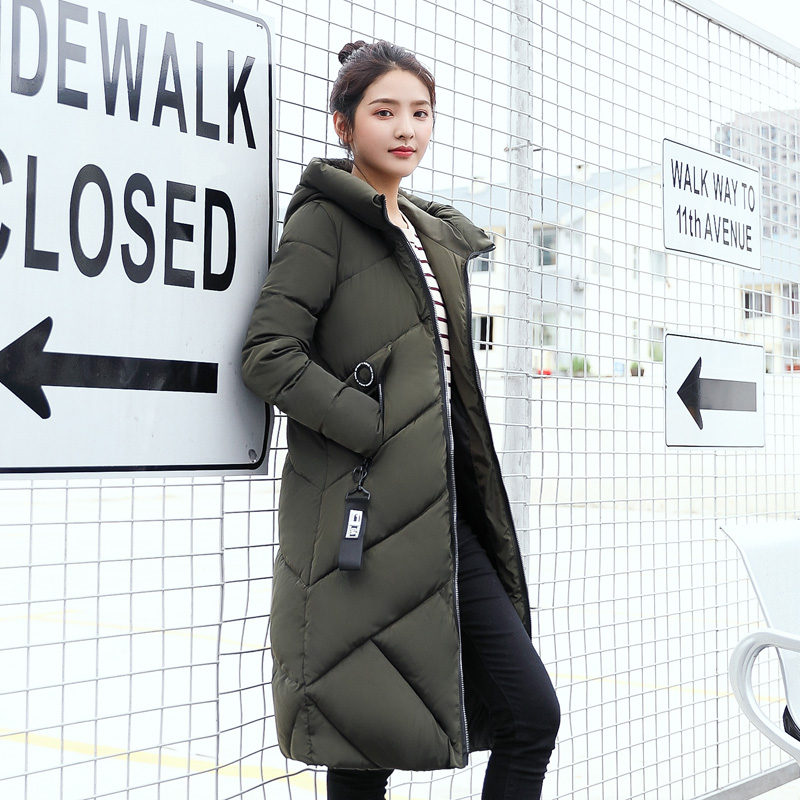 2017 Winter Jacket Women Large Hooded Cotton Coat Thick Warm Parkas Outwear Fashion  Loose Style Student skirt The New 2017 down cotton winter hooded jacket coat women clothing casual slim thick lady parkas cotton jacket large size warm jacket student