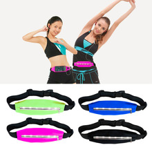 Sports Running Waist bags Pack Pocket Belt with LED Lights Adjustable Safety Waist Bag Free Shipping