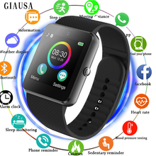 Купить с кэшбэком GIAUSA Bluetooth Smart Watch Men With Touch Screen Big Battery Support TF Sim Card Camera For IOS iPhone Android Phone GT08 x6