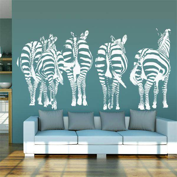Online Shop Leisurely Walking Zebra Home Decoration Vinyl Wallpaper Adesivo  De Parede Wall Sticker Large Size Wall Stickers Home Decor | Aliexpress  Mobile