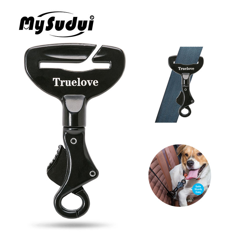 MySudui Truelove Vehicle Car Dog Seat Belt Lock Harness Collar Clip Pet Dog Car Seat Belt Harness Safety Dog Seatbelt For Car