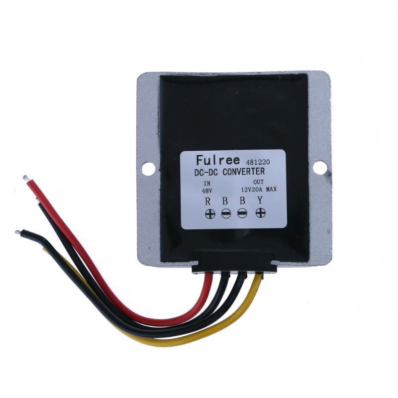 240W Voltage Reducer Converter Regulator DC 48V to 12V 20A Waterproof Voltage Reducer Converter Regulator Stabilizer