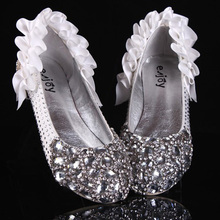 Fashion New Wedding Bridal Shoes White Rhinestone High Heels Bridal Prom Dress Shoes Christmas Party Bridesmaid Shoes