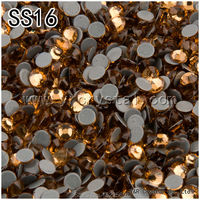 1440Pcs/pack SS16 Flatback Glue Base Light Colorado Topaz Color Crystal Glass Hotfix Rhinestones