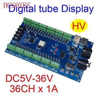 (1 pcs/lots) DC5V-36V 36 channel 12 groups dmx512 decoder led controller for led strip lights