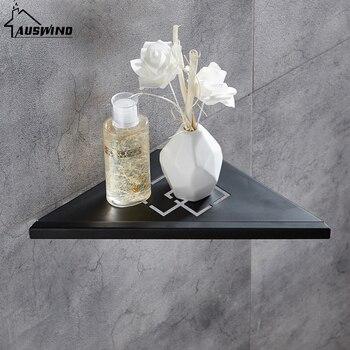 Black Bathroom Shelves Brushed Nickel Stainless Steel 304 Wall Bathroom Shelf Shower Bathroom Accessories Shelves N10 фото