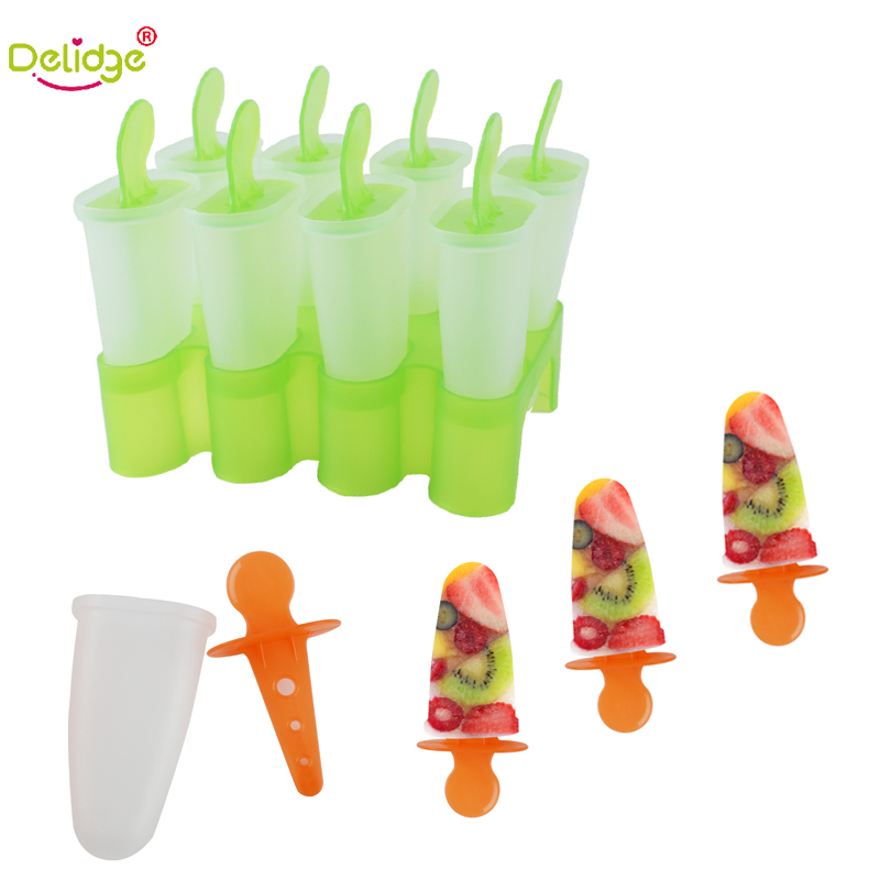 Delidge 1pc 8grid Ice Cream Mold Popsicle Food Grade Pp DIY Fruit Chocolate Ice Cream Making Tools in Baking Pastry Tools from Home Garden