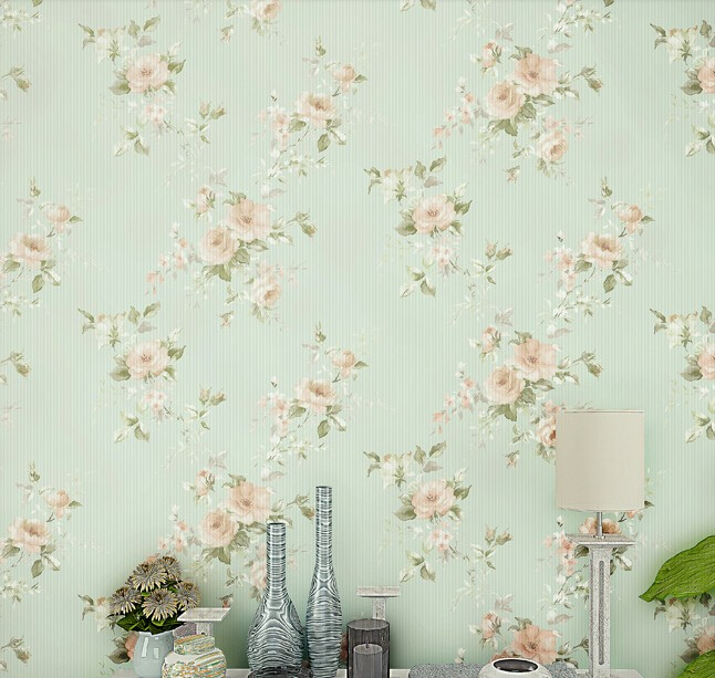 American wallpaper small pure and fresh and pastoral big non-woven wallpaper green,pink sweet bedroom living room clothing store free shipping hepburn classic black and white photographs women s clothing store cafe background mural non woven wallpaper