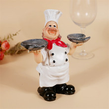Creative Wine Glass Cup Holder Resin Chef Style