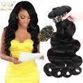 91.25 $4 Feixes 18 20 22 24 polegadas Brasileira Do Cabelo Virgem WaveHair Corpo Feixes Tecer 100% cabelo Humano Cru Não Processado Extensões de cabelo