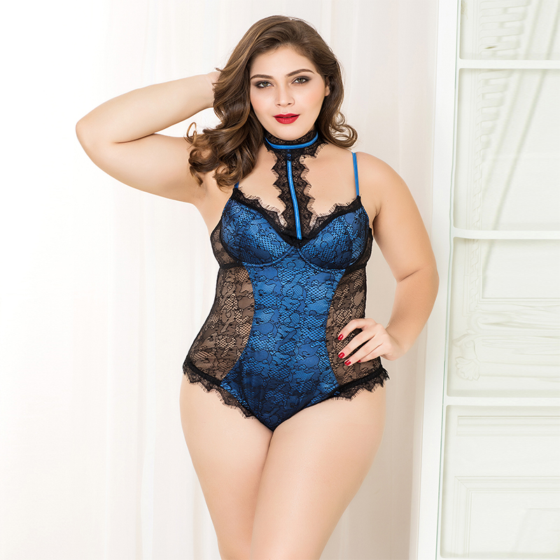 Lace Floral Sexy teddies backless bodysuits hot erotic lingerie women sexy underwear solid color porno dress for sex