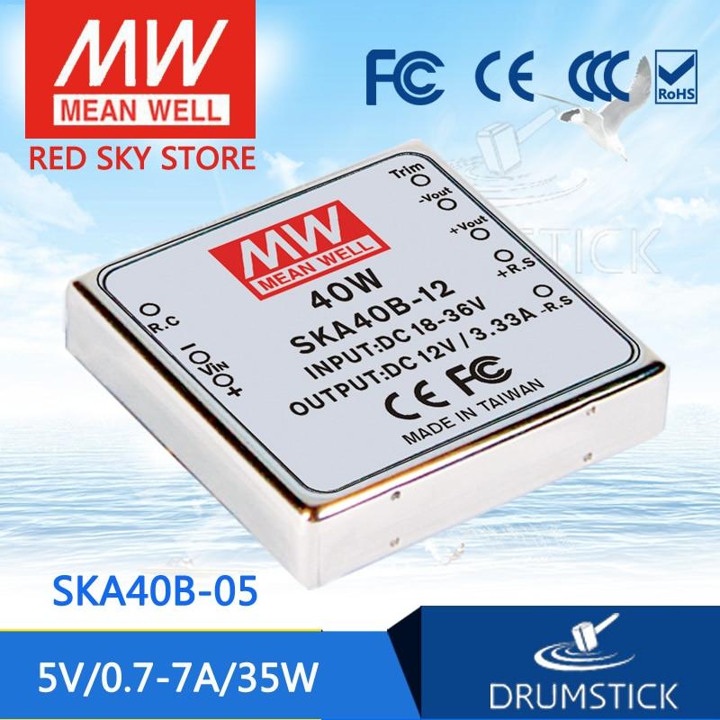 MEAN WELL SKA40B-05 5V 7A meanwell SKA40 5V 35W DC-DC Regulated Single Output Converter полка holder ska r