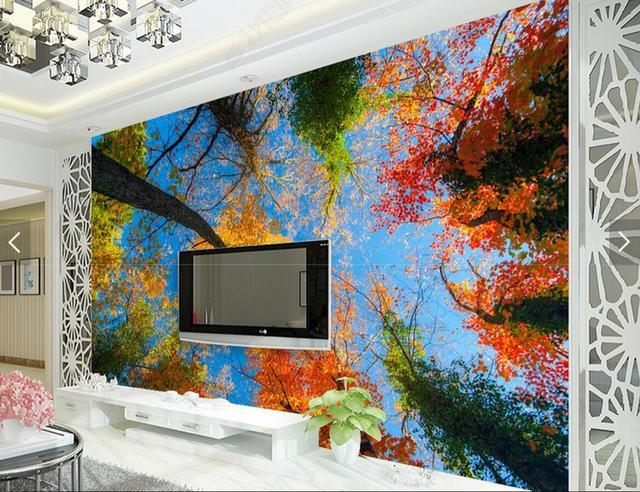 Decoratie Slaapkamer Maken : Europese d maken boom foto muurschildering muur papierrollen voor