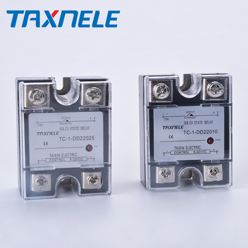 DC-DC Single Phase Solid State Relay DD Output 5-220VDC Input 5-32VDC  SSR Relay Industrial Solid State Relay Module