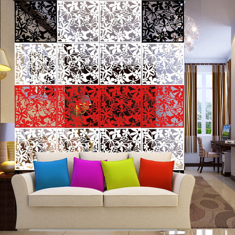 12PCS Room Divider Biombo Room Partition Wall Room Dividers Partitions PVC Wall Stickers Room Dividers Partitions Folding Screen