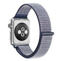 спортивные браслет ремешок для часов Apple, часы 42 мм 38 мм серии 3 2 1 оригинальный гаджет тканые нейлон оливковое браслет ремень легкая регулировка