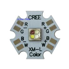 5 шт. Cree XLamp XML XM-L RGBW RGBWW RGB+ Холодный/теплый белый 12 Вт 4 чипа светодиодный излучатель лампы, установленный на 20 мм Звезда PCB для сценический светильник