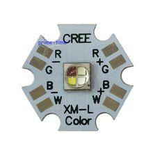 5 قطعة كري XLamp XML XM L RGBW RGBWW RGB + كول/دافئ الأبيض 12 واط 4 رقاقة LED باعث لمبة شنت على 20 مللي متر ستار PCB للضوء المرحلة