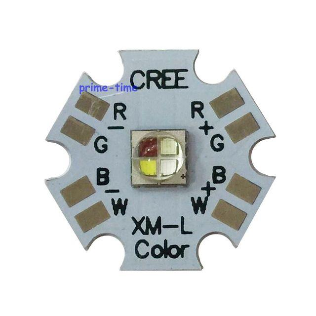 5pcs CREE XLamp XML XM L RGBW RGBWW RGB + Cool/WARM White 12 W 4 ชิป LED Emitter หลอดไฟติดตั้ง 20 มม.PCB สำหรับ STAGE LIGHT