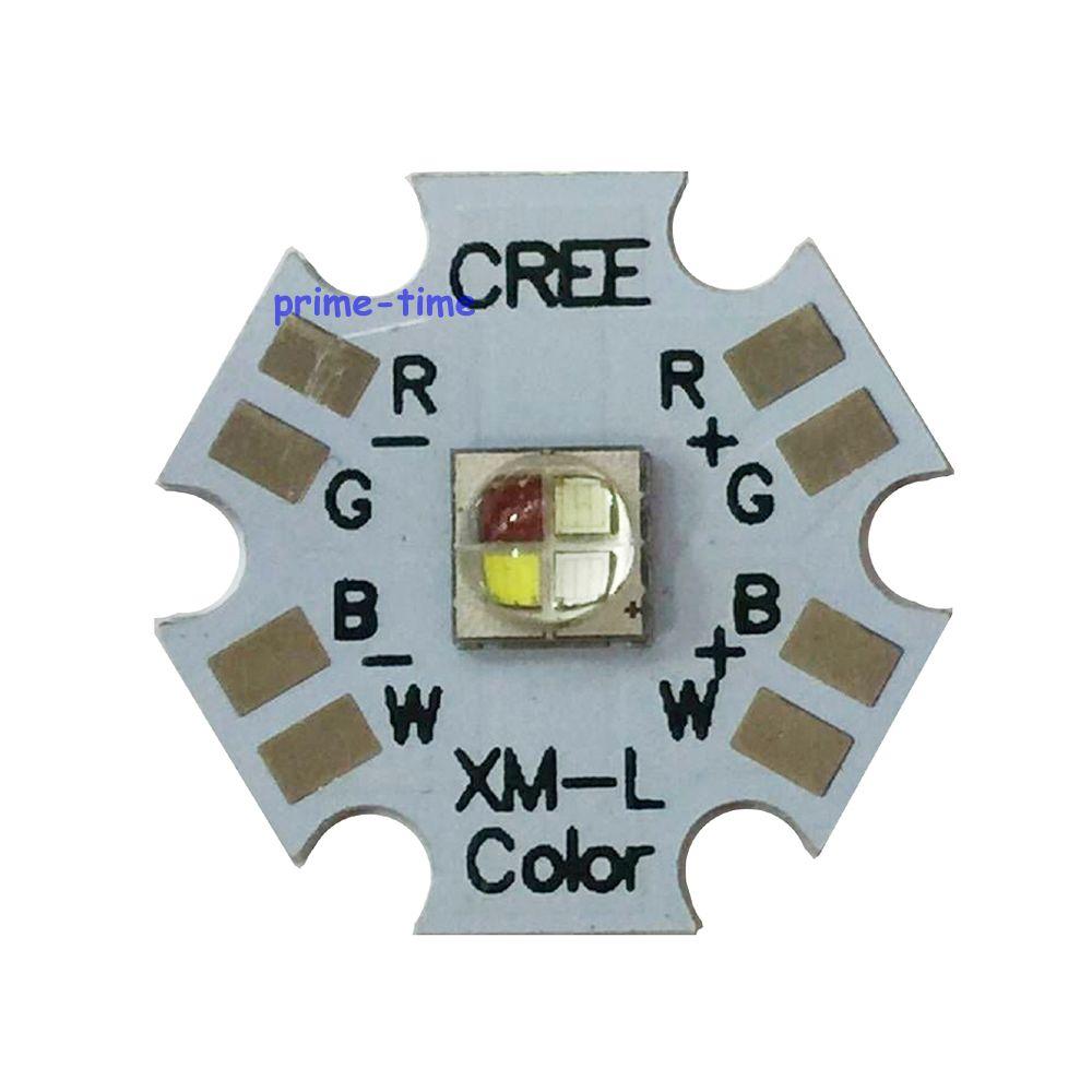 10w Cree XLamp XM-L RGBW RGB White Color LED Emitter 4-Chip 20mm Star PCB Board