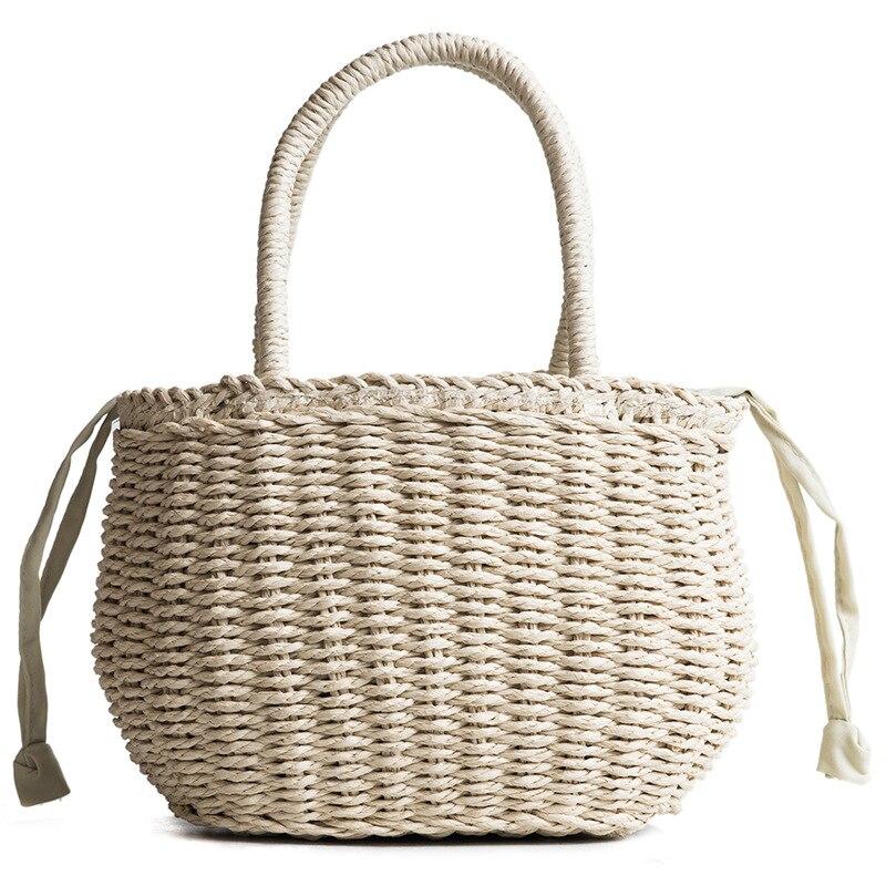 Beach Crossbody Bags for women 2018 Summer Big Straw Bags Handmade Woven Tote Travel Handbags Luxury Designer Shopping Hand Bags