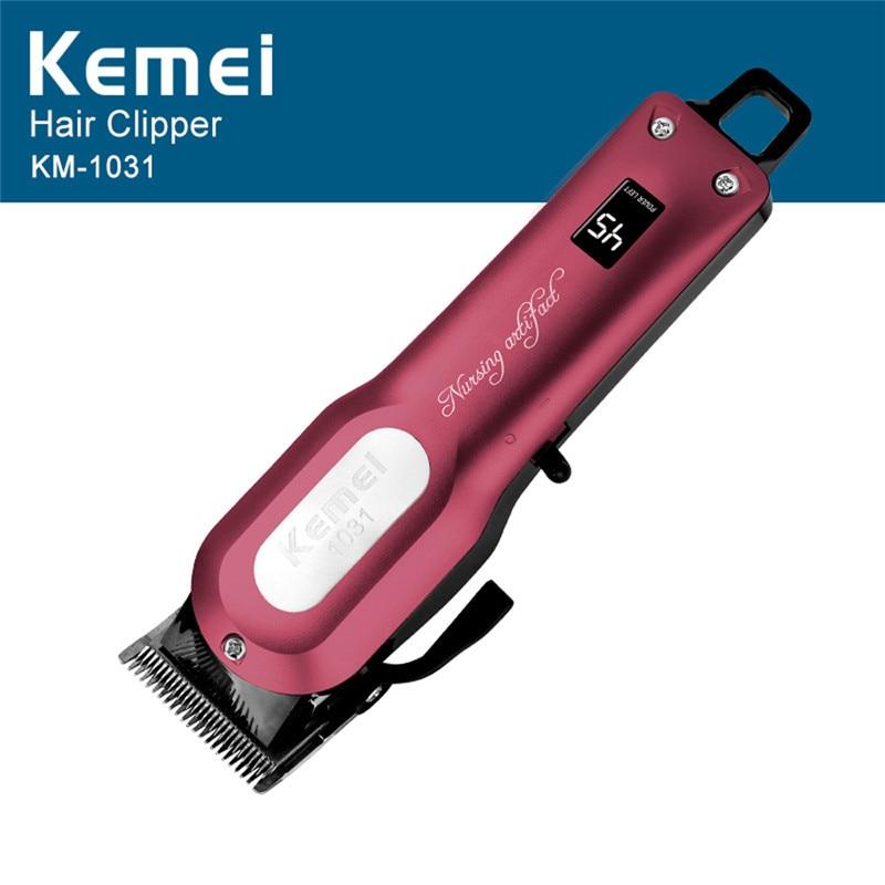 Kemei Professional Cordless Hair Clipper Powerful Electric Beard Trimmer Hair Shaving Machine Hair Cutting Razor Barber