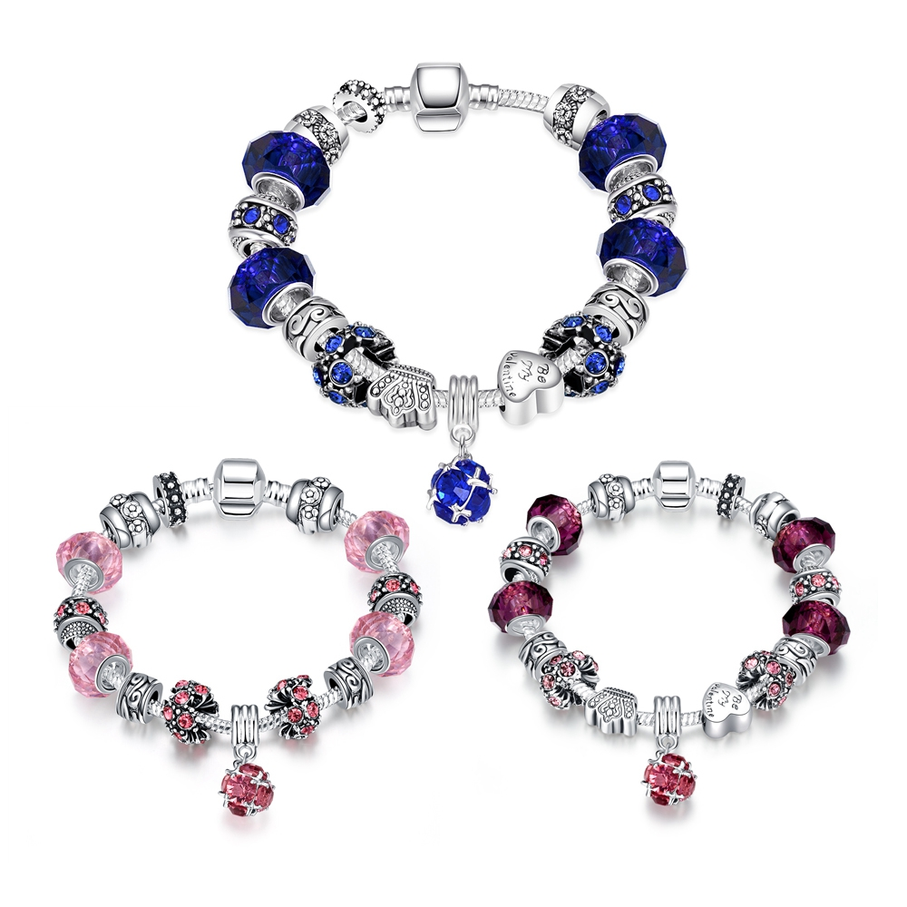 Pandor Bracelet Silver 925 Original With Logo Charm Girl 3Colors Pop Elegant And Generous Ladies Bracelet Valentines Day Charms