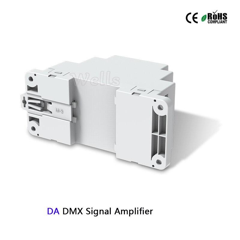 DA DIN Rail DMX512 Signal Amplifier controller DC5-24V led DMX Amplifier 1CH input 2ch output for led strip DMX signal extender