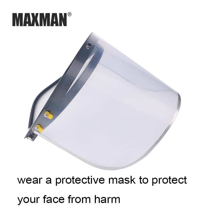 MAXMAN Welding Screens Transparent Lens Anti-shock Welding Helmet Face Shield Solder Mask Face Eye Protect Shield