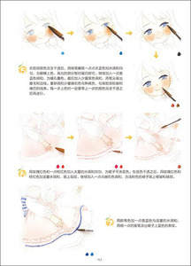 Image 2 - learn watercolor painting Cartoon Drawing for beautiful girl