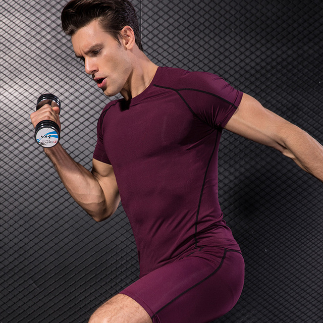 Yuerlian/сжатия мышц Для мужчин костюм Demix Бег комплект Фитнес Tight футболка леггинсы Шорты для женщин Для мужчин спортивной гимнастикой спортивный костюм