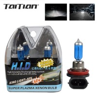 2Pcs Kit Xenon 4300k H7 55w 12V 6000K Halogen H7 Bulb Fog Light H1 Bulb H3