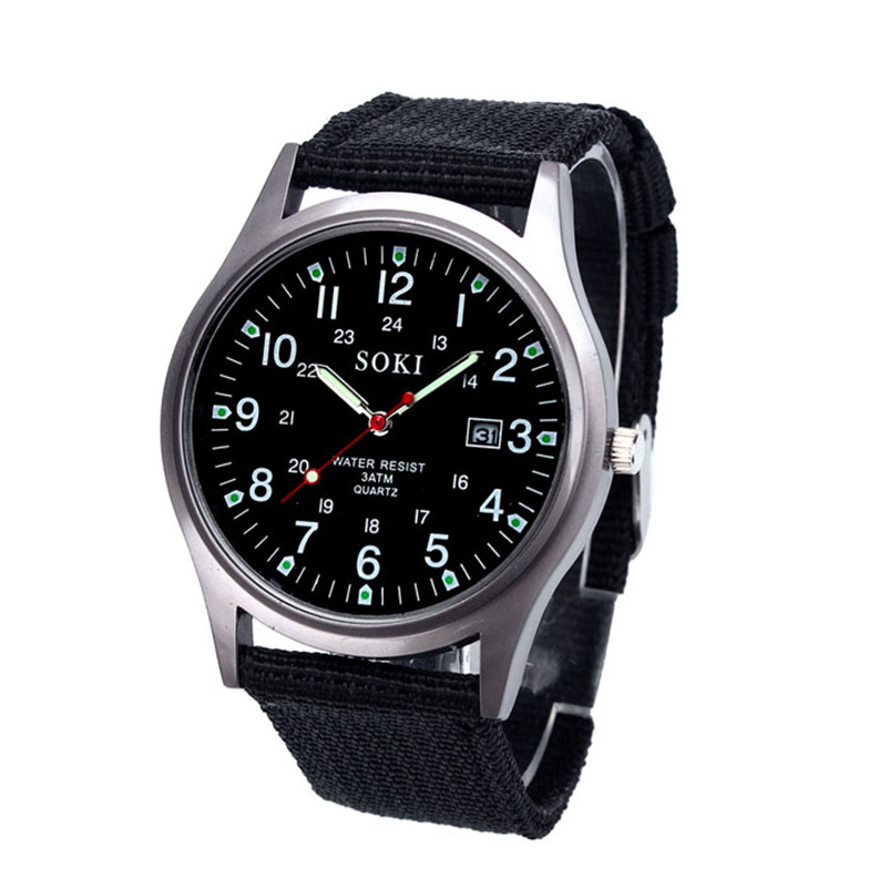 Fashion Military Classics Mens Watch Quartz Analog Canvas Band Casual Sports Watch Watches Mens Watches Top Brand Luxury New цена и фото