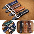 AUTO Fashion Genuine Leather Watch Band For Panerai Watch 24mm Watch Strap Watchbands Steel Pin Clasp Ostrich Pattern+Free Tools