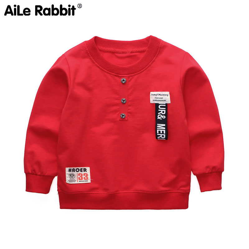 Children's T-Shirt Tops Letter Long-Sleeve Autumn Girls Rabbit Boys Fashion And Casual