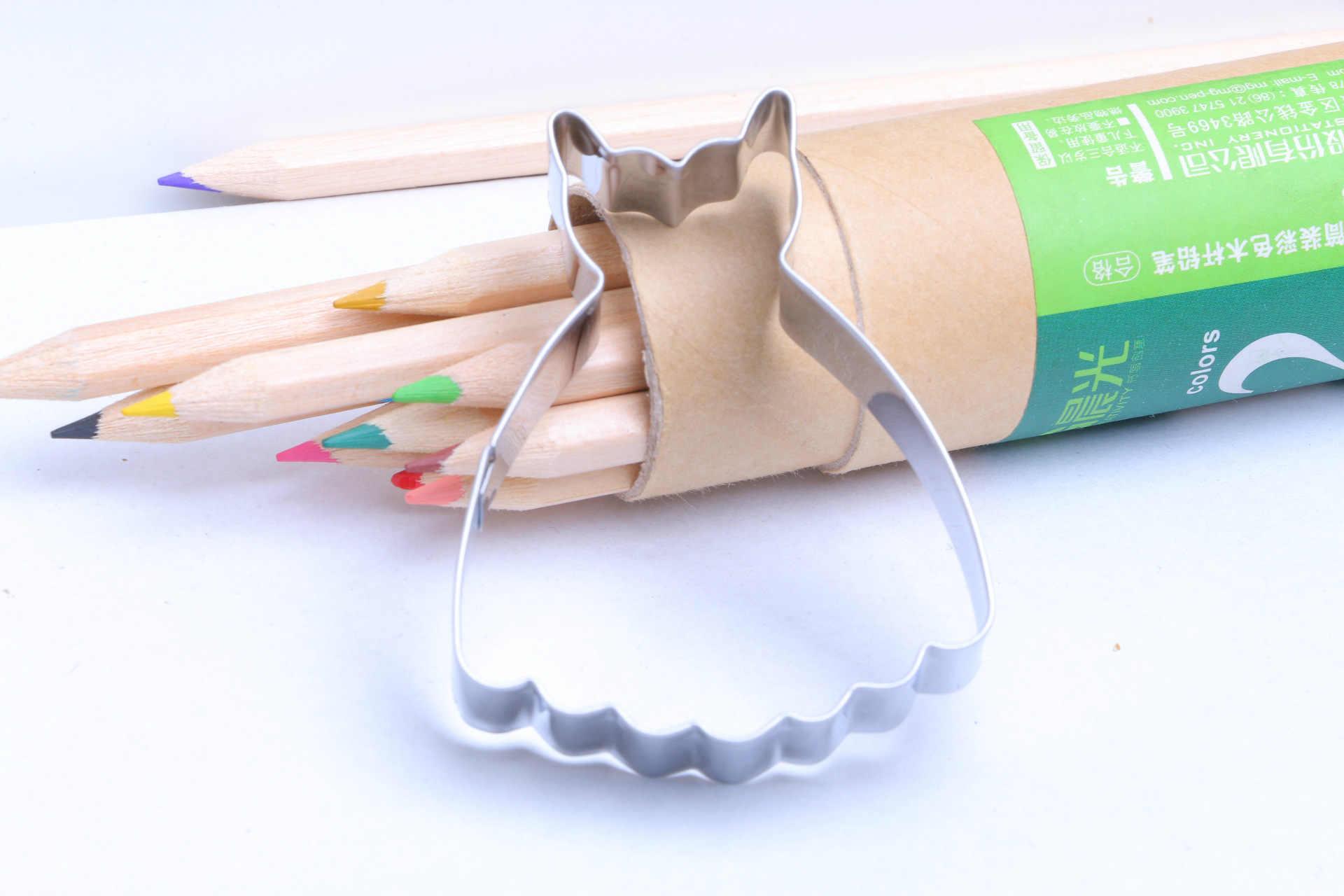1 قطعة فستان حفل زفاف قالب قطع الكعكة المعدنية فندان كعكة البسكويت قالب كب كيك أداة المطبخ بوابة يتوافق E419