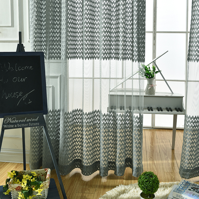 A buon mercato grigio tulle Tende Moderne per Soggiorno Tulle ...