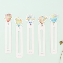 Купить с кэшбэком 30pcs Kawaii balloon bookmarks for books Lovely page holder marker memo Fresh School Office supplies papeleria FC394