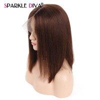 150% плотность короткий Боб синтетические волосы на кружеве натуральные волосы парик с ребенком волос бразильский Remy Glueless синтетические вол